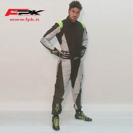 Alpinestars Tuta K-MX 5 black/yellow/fluo
