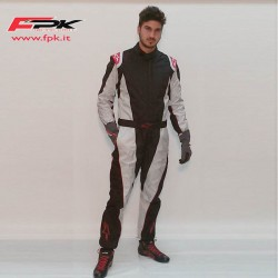 Alpinestars Tuta K-MX 5 antracite /silver red