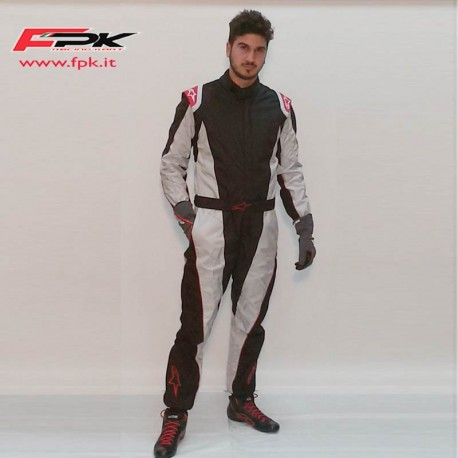 Alpinestars Tuta K-MX 5 Antracite/silver/red
