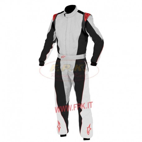 Alpinestars Tuta K-MX 5 silver/antracite/red