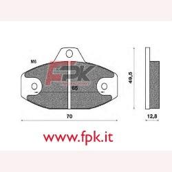 Coppia Pastiglie compatibili Intrepid interasse 65mm
