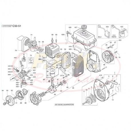 albero motore completo di bielle (figura 40)