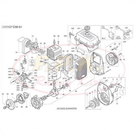 Cilindro completo di pistone (figura 58)