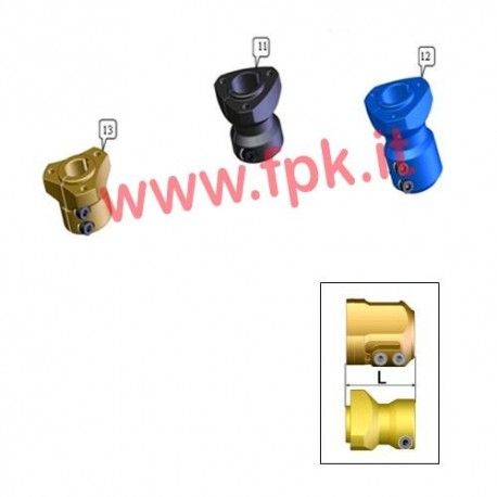 Mozzo Posteriore Alluminio per assale 25mm Lunghezza 98mm (figura 15)