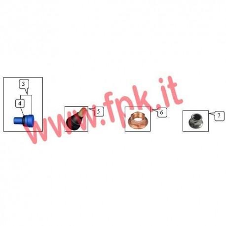 Dado M8 Flangiato autobloccante (figura 6)