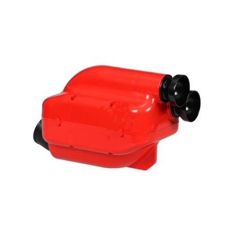 Filtro aria/Silenziatore d'aspirazione Nox rosso fori 23 e da 30 con spugna