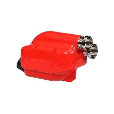 Filtro aria/Silenziatore d'aspirazione Nox rosso fori 23 e da 30 Cromate con spugna