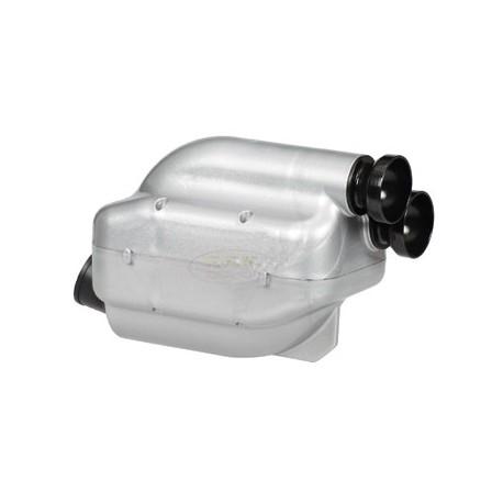 Filtro aria/Silenziatore d'aspirazione Nox grigio fori 23 e da 30 con spugna