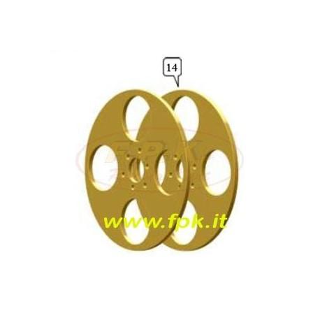 Coppia dischi convergenza Magnesio opzione foro 17 o 25mm