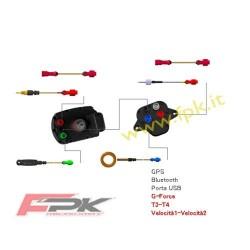 Pacchetto Alfano Pro tre Evo con sonda tempi, rpm, temperatura acqua, temperatura scarico, velocità, GPS4