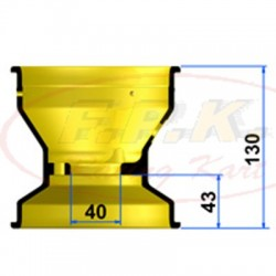 Cerchio Anteriore Magnesio 130mm profondità 43mm con Viti antistallonamento