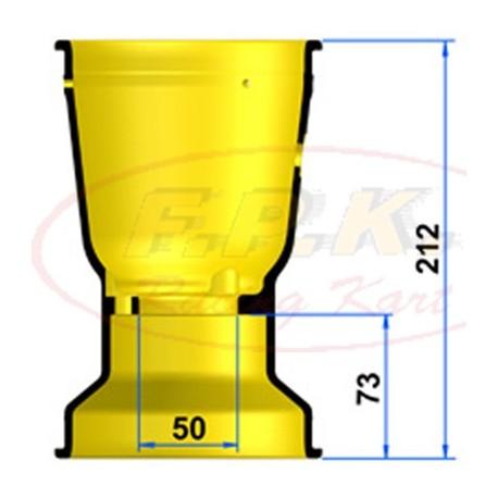 Cerchio Posteriore Magnesio 212mm profondità 73mm con Viti antistallonamento