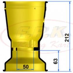 Cerchio Posteriore Magnesio 212mm profondità 63mm con Viti antistallonamento