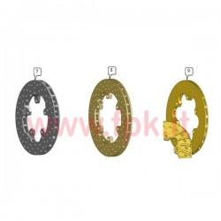 Disco freno Posteriore ventilato diametro esterno 196 spessore 15mm (figura 7)