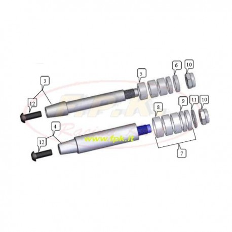 Asse fusello diametro per KF e KZ 17mm (figura 3)
