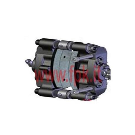 Pinza freno completa posteriore Tecno idraulica versione FT06 (figura 1)