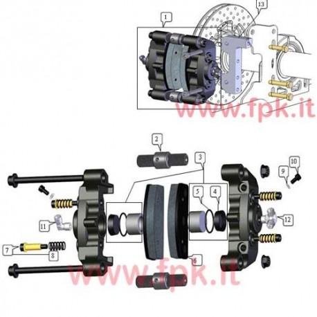 Kit pistone diametro 28 (2x pistone, guarnizione, o-ring) (figura 3)