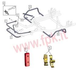 Supporto Nylon Paraurti anteriore Rosso (figura 7)