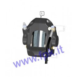 Pinza freno completa posteriore Tecno idraulica versione FT
