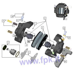 Kit pistoni d.32 (pistone,guarnizioni,o-ring) Pinza FT (figura 2)