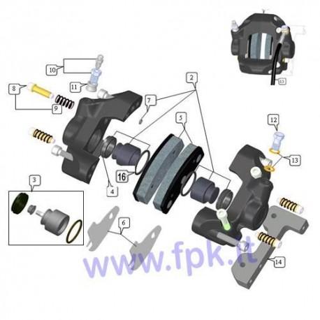 Kit pistoni diametro 32 (pistone, guarnizioni, o-ring) Pinza FT (figura 2)