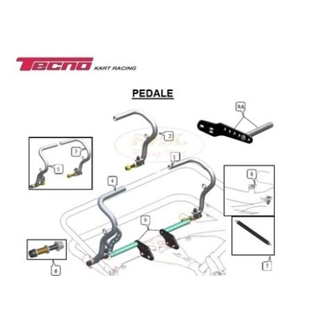 Pedale acceleratore mini con perno figura 4
