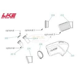 Condotto silenziatore Aspirazione diametro 22 LKE (figura 221a)