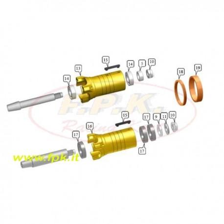 Porta disco diametro esterno 50mm per fusello 17mm (solo il corpo) (fig13)