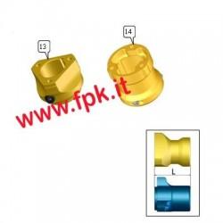 Mozzo Anteriore Magnesio per mozzo 50mm lunghezza 72mm (figura 14)