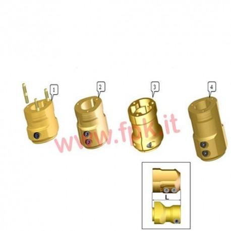 Mozzo Posteriore Magnesio per assale 50mm Lunghezza 88mm (figura 2)