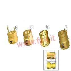 Mozzo Posteriore Magnesio per assale 50mm Lunghezza 128mm