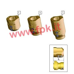 Mozzo Posteriore Magnesio per assale 40mm Lunghezza 72mm (figura 5)