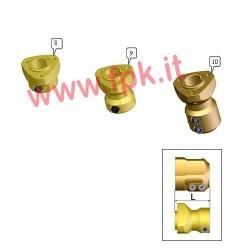 Mozzo Posteriore Magnesio per assale 30mm Lunghezza 50mm (figura 8)
