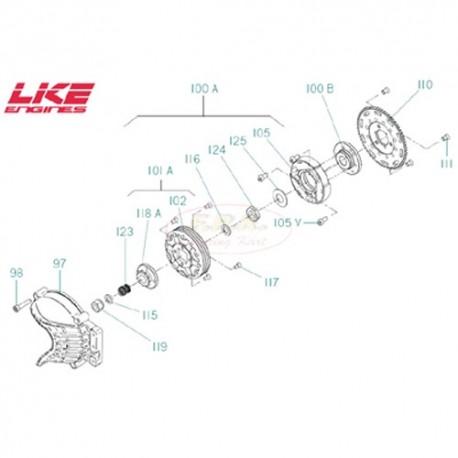 Vite coperchio frizione RVTCE 6x30 (figura 98)