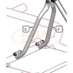 Braccio supporto piantone sterzo lato motore figura 8