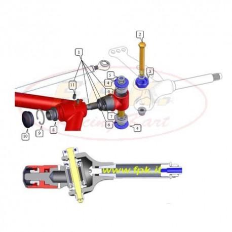 Supporto fusello completo regolabile (figura 1)