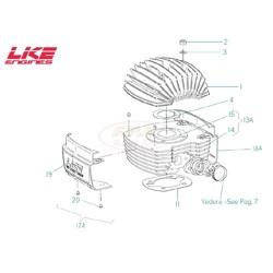 Guarnizione base cilindro motore VO spessore 0, 4