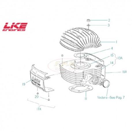 Guarnizione base cilindro motore VO sp. 0,4