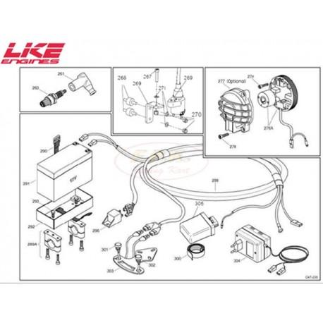 Dado M5 autobloccante fissaggio bobina (figura 270)