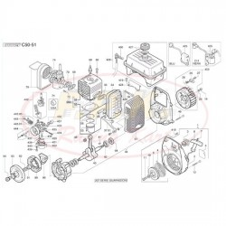 Serie guarnizione completa carburatore (figura 206)