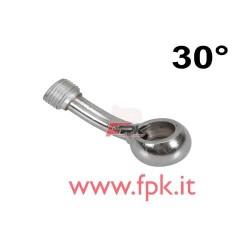 Raccordo con curva radiale 30° per tubi Inox