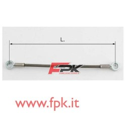 Tubo freno telato Inox 6mm O/O varie lunghezze