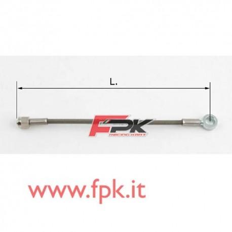 Tubo freno telato Inox 6mm O/I varie lunghezze