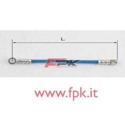 Tubo freno telato Inox 8mm l/I varie lunghezze blu
