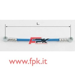 Tubo freno telato Inox 8mm O/O varie lunghezze blu