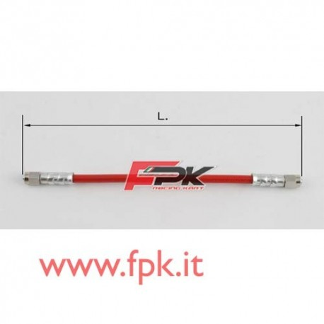 Tubo freno telato Inox 8mm L/L varie lunghezze rosso