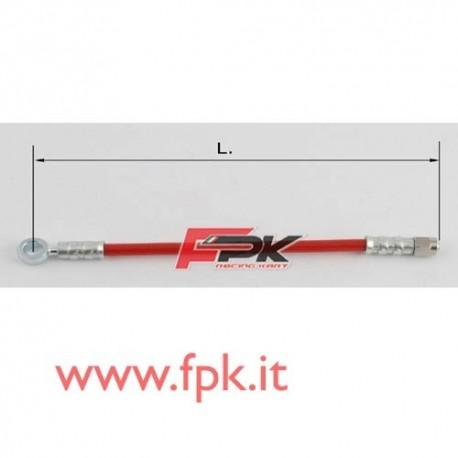 Tubo freno telato Inox 8mm O/L varie lunghezze rosso