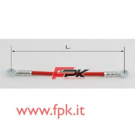 Tubo freno telato Inox 8mm O/O varie lunghezze rosso