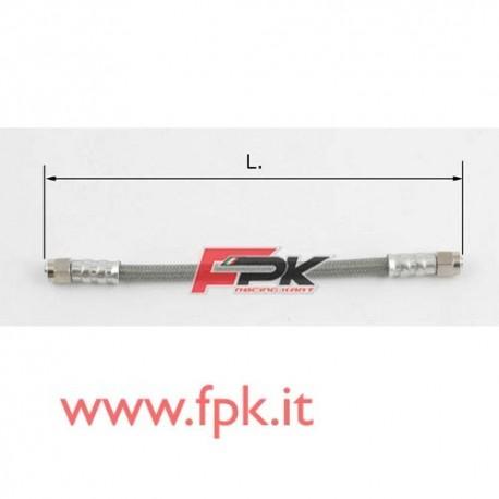 Tubo freno telato Inox 8mm l/l varie lunghezze grigio