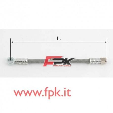 Tubo freno telato Inox 8mm O/l varie lunghezze grigio